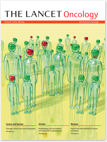 Lancet Oncology Cover - Familial Risk Brain Tumours